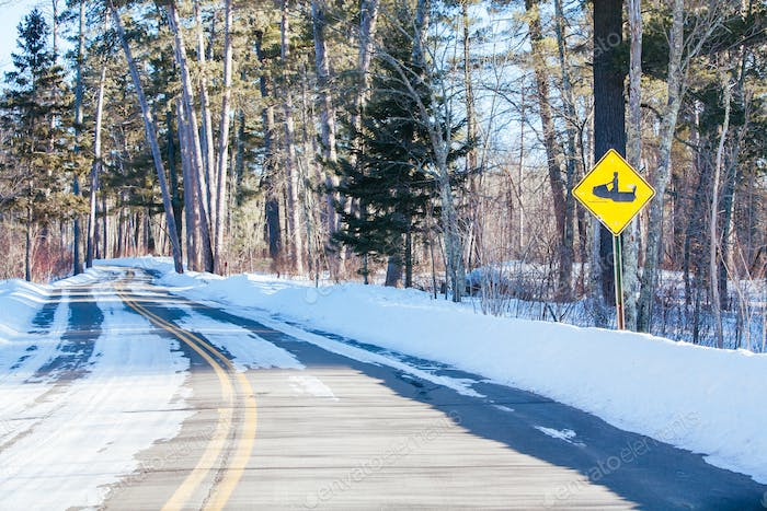 Snowmobile Signage in the USA