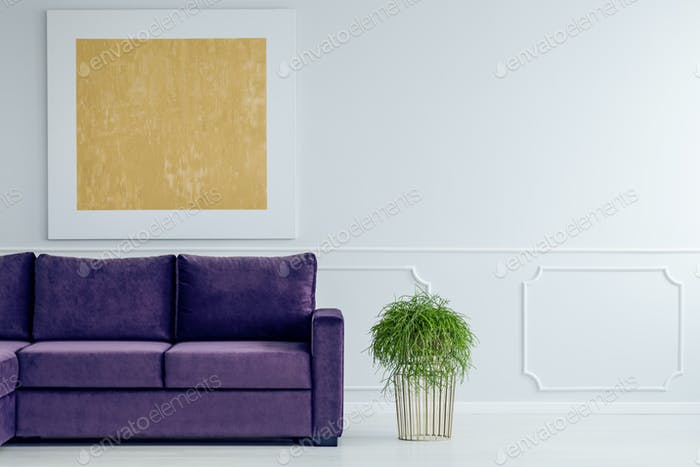 Gold and violet living room