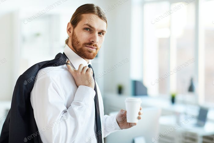 Businessman with drink