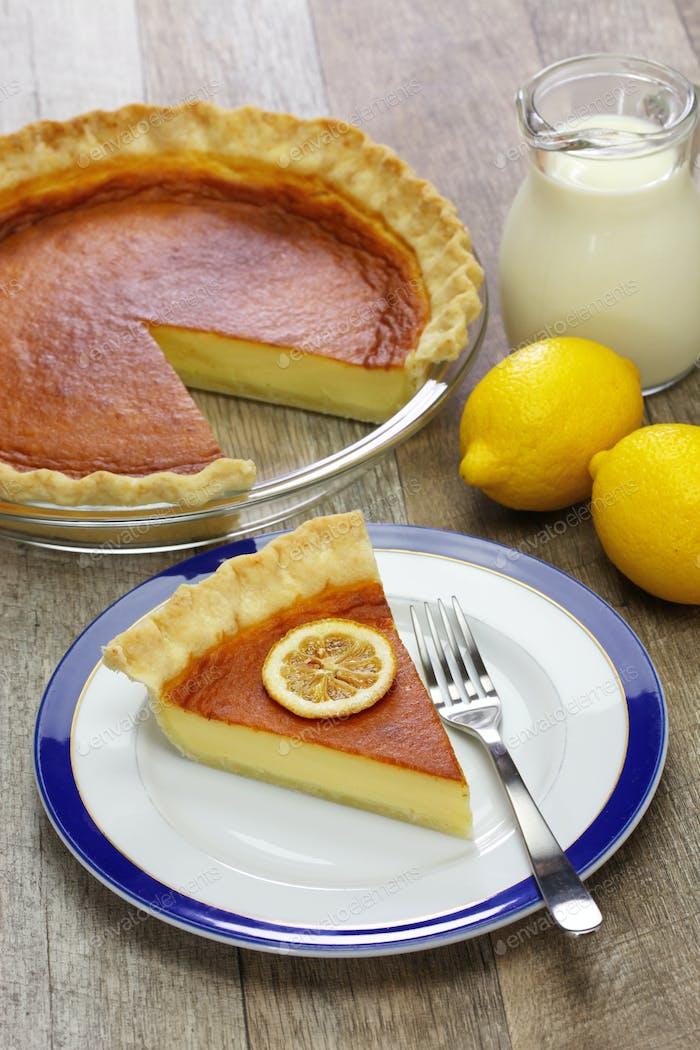 homemade lemon buttermilk pie