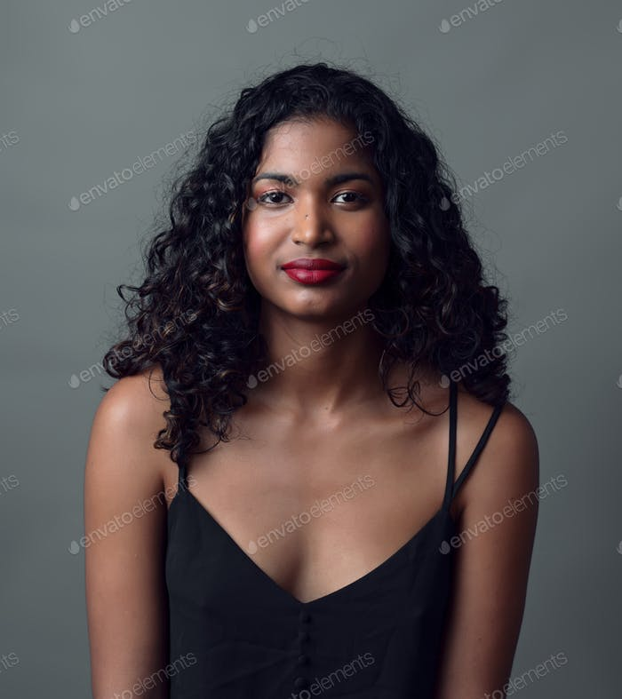 portrait of young asian indian girl