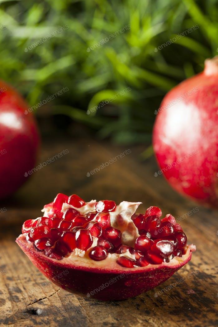 Organic Ripe Red Pomegranates