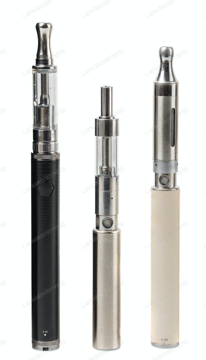 Verschiedene moderne elektronisch Zigarettenverdampfer.