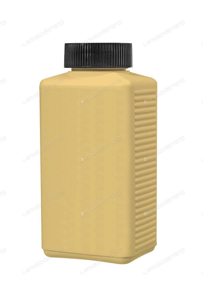 Vitamin pills bottle isolated on white background
