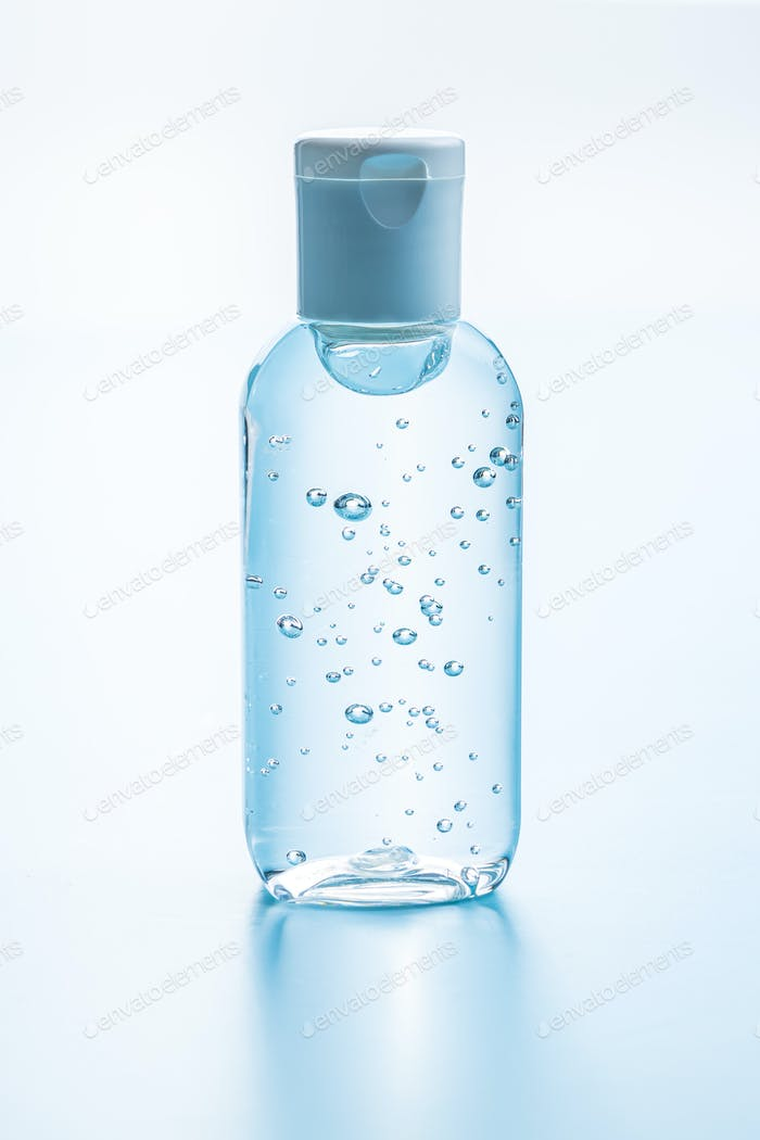 Antibakterielles Reinigungsgel. Coronavirus-Prävention. Handdesinfektionsgel