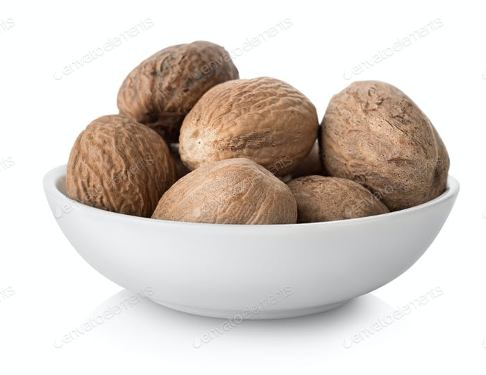 Nutmegs  in plate