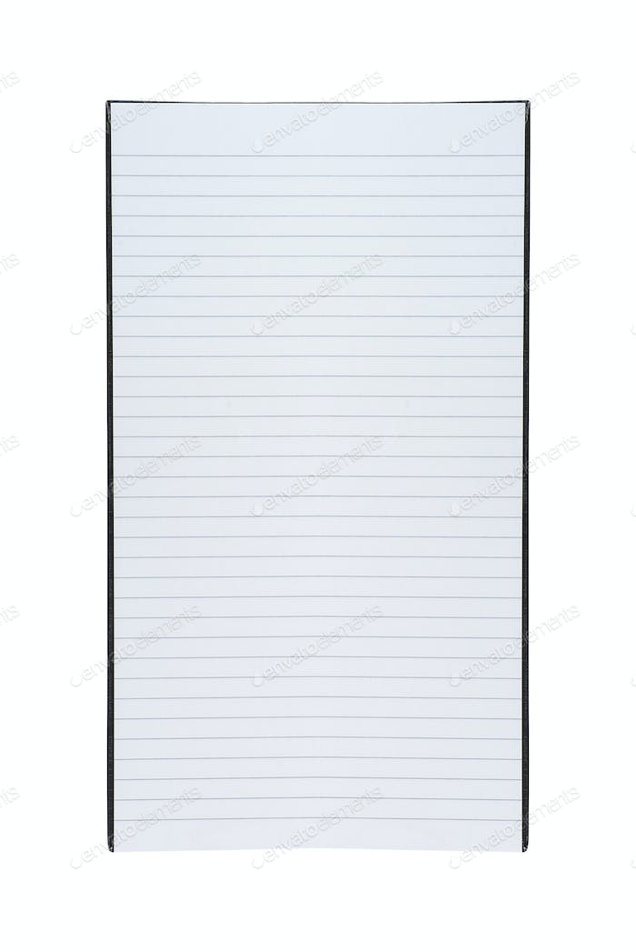 line paper note isolated on white