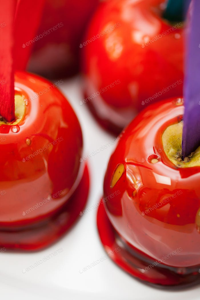 Sticky Toffee Apples At a Party