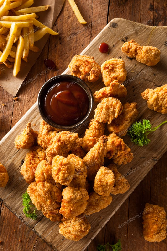 Homemade Crispy Popcorn Chicken