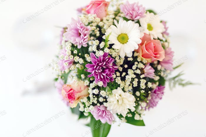Beautiful flower bouquet with vivid colors