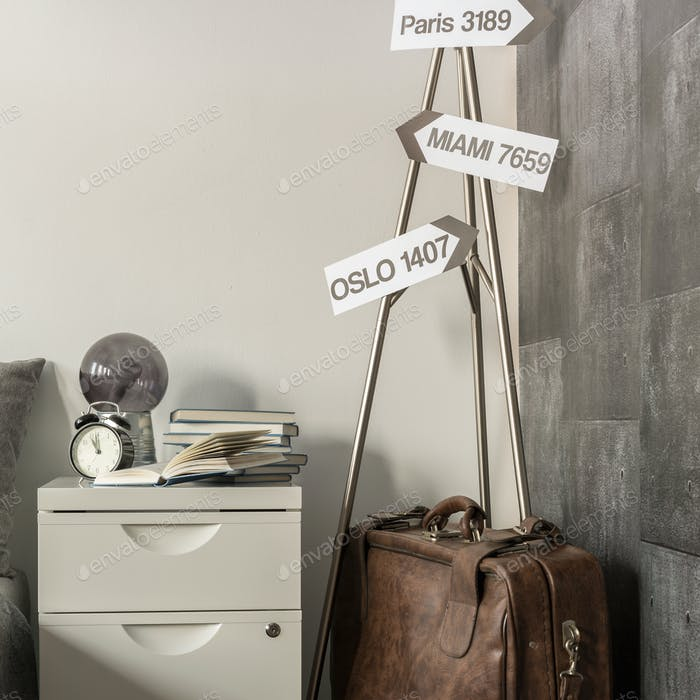Guideposts in traveler room