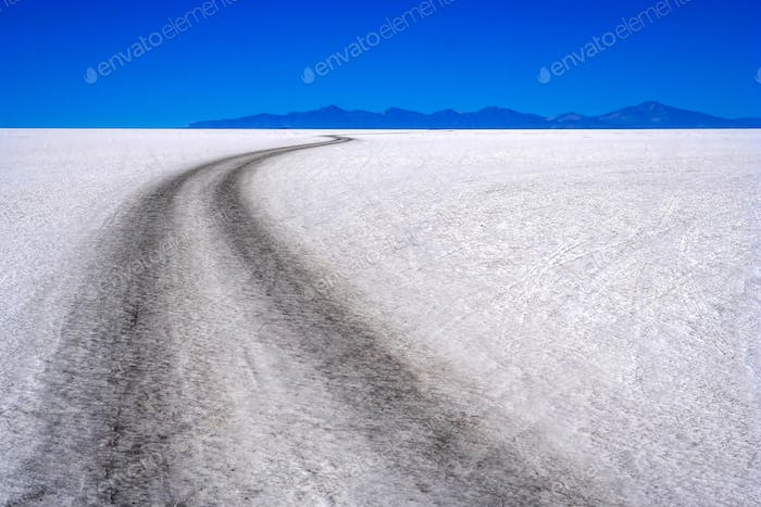 Road Through Salar