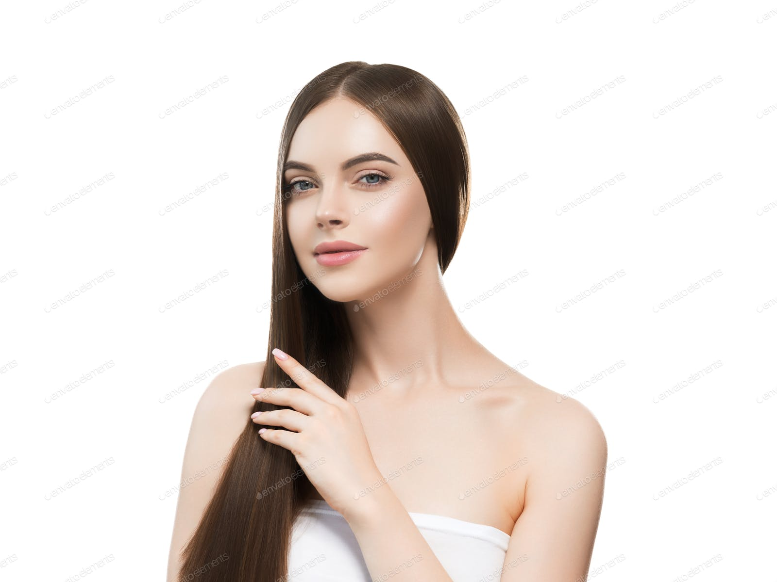 Smooth Hairstyle Girl Beautiful Skin Care Portrait Photo By Kiraliffe On Envato Elements