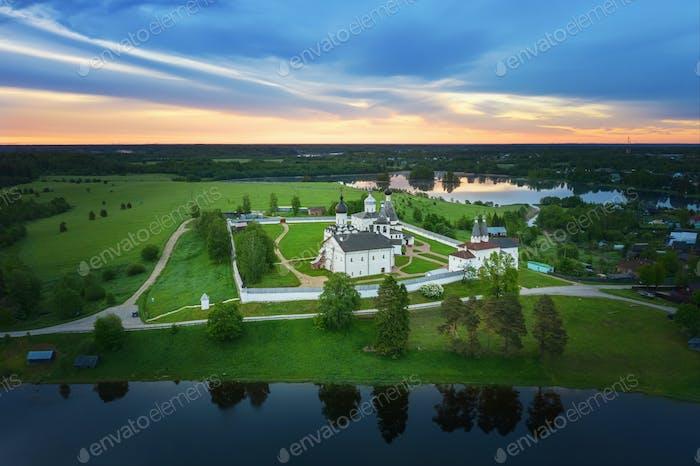 Aerial view of Ferapontov Monastery, Russia