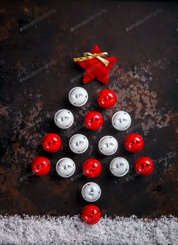 Stylized Design Christmas Tree with Xmas Toys,