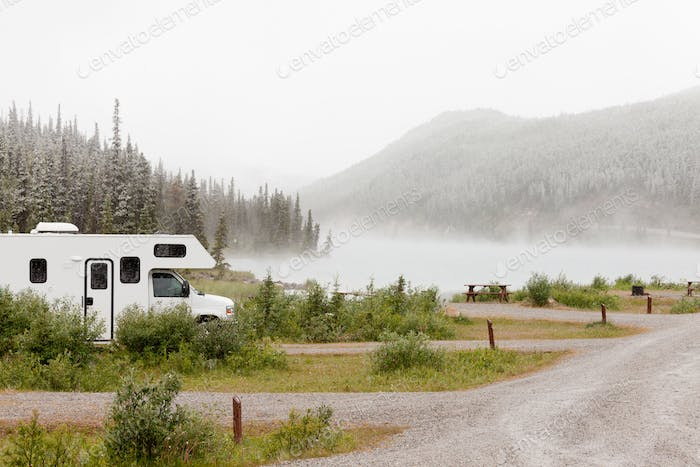 RV Summit Lake Stone Mountain Provincial Park BC