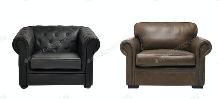 two nice leather arm chairs