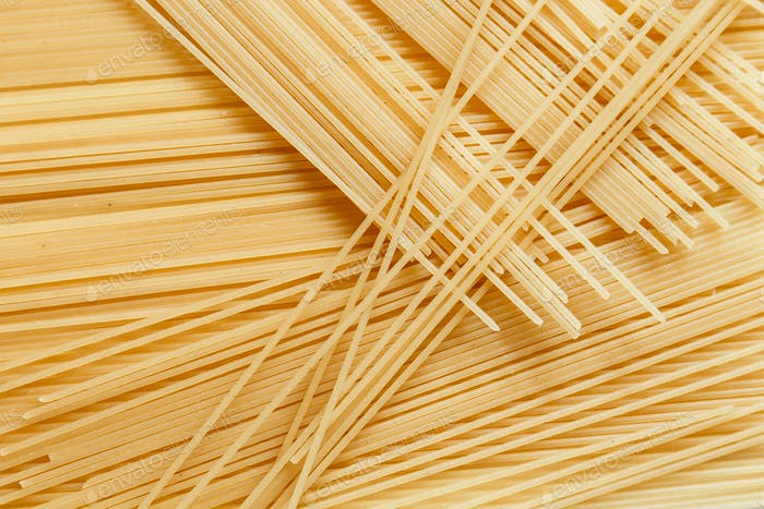 Close up view of spaghetti
