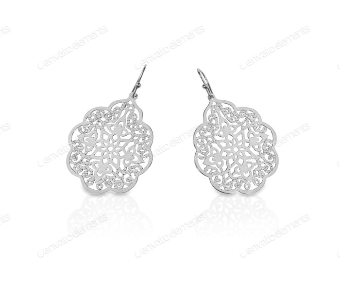 Filigree earrings silver