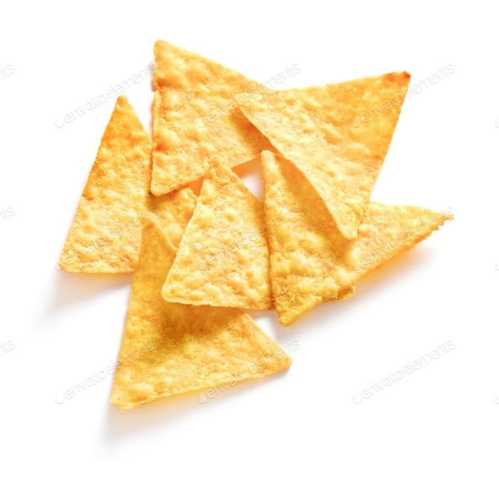 Heap of nacho chips