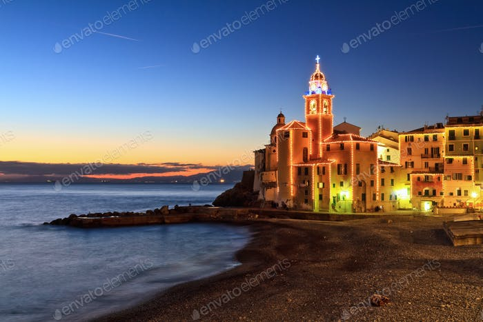 Camogli at evening