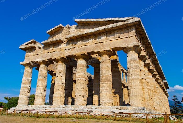 The greek Temple of Hera-II. Paestum, Italy