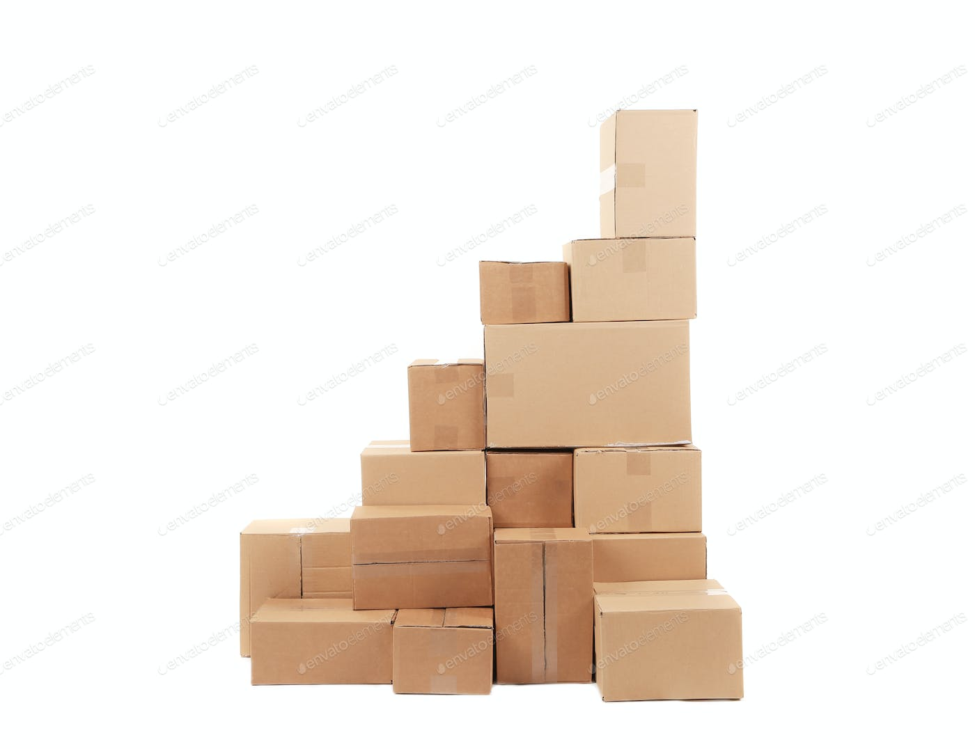 Stacks Of Cardboard Boxes Photo By Indigolotos On Envato Elements