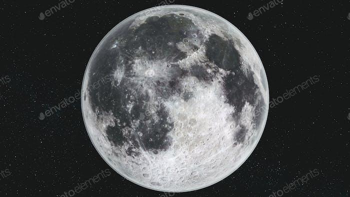 Spin Mond Orbit Bewegung Milchstraße Galaxie Hintergrund