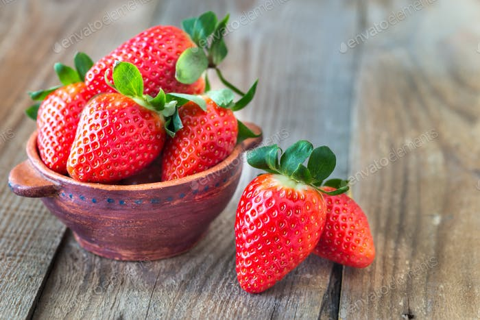 Bowl of fresh strawberries