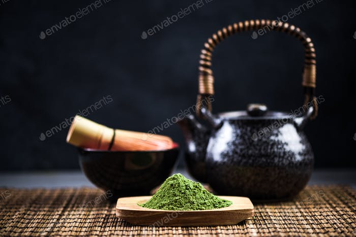 Matcha tea, drinking healthy tea ceremony