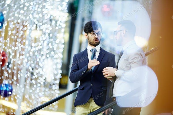 Conversation of businessmen