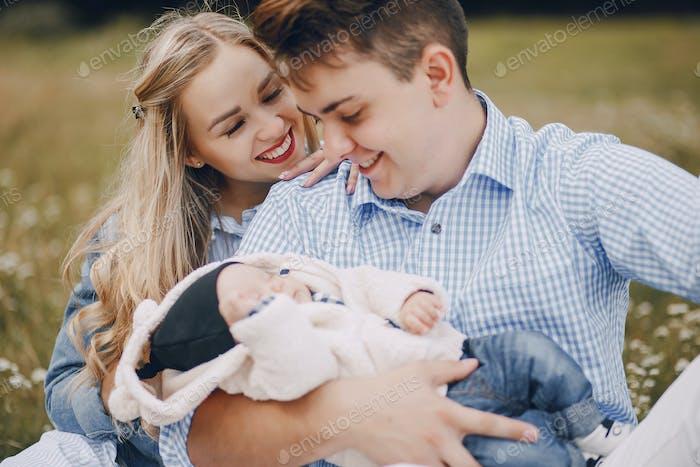 family with newborns