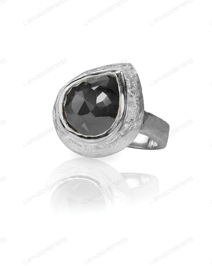 black diamond onyx fashion engagement wedding ring