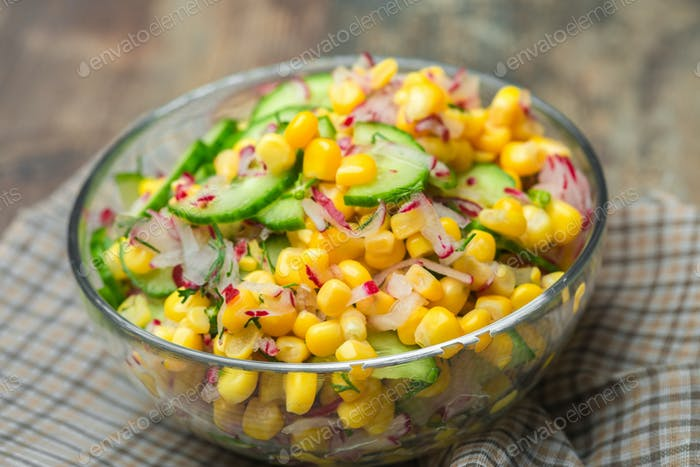 salad with rucola couscous and nuts avocado, green vegetarian healthy diet food