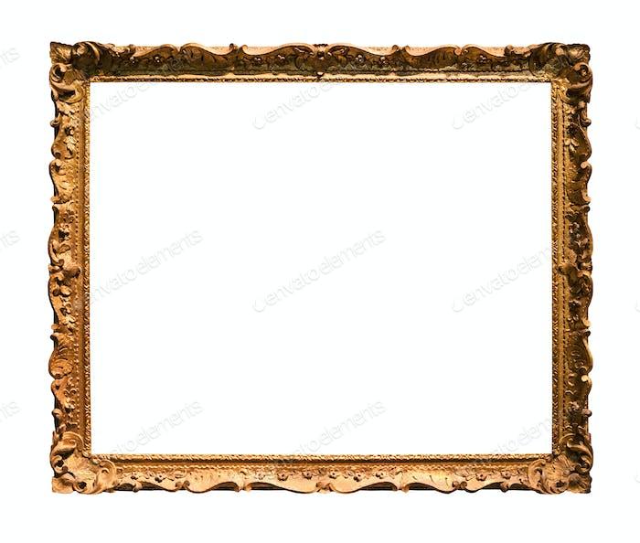 horizontaler schmaler Barock Bilderrahmen aus Holz