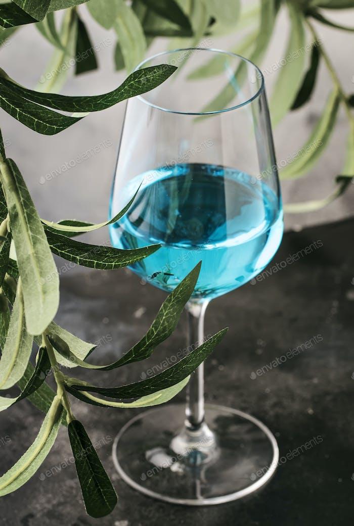 Blauwein, trendige nicht-klassische Süßweingetränk