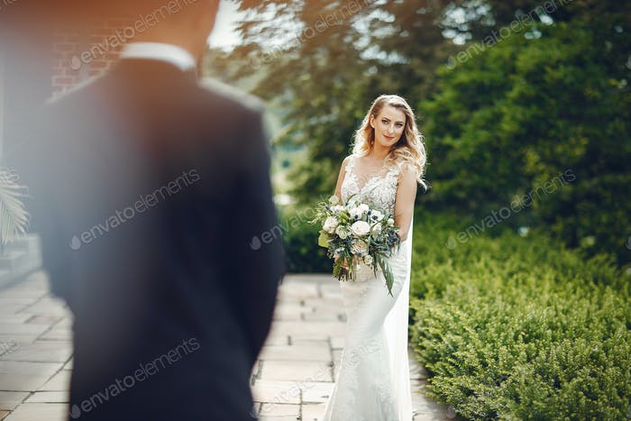 Elegantes Hochzeitspaar
