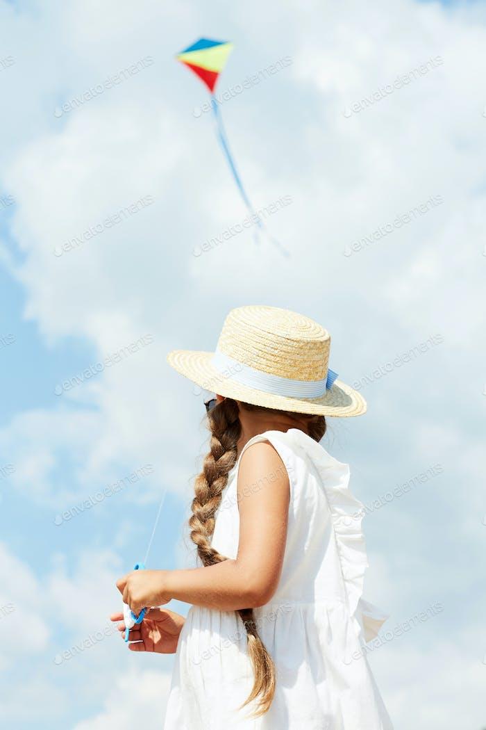 Girl against Sky