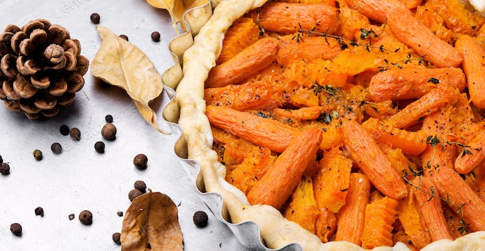 Pie with carrots