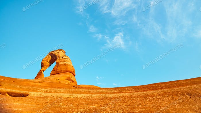 Delicate Arch at sunset.