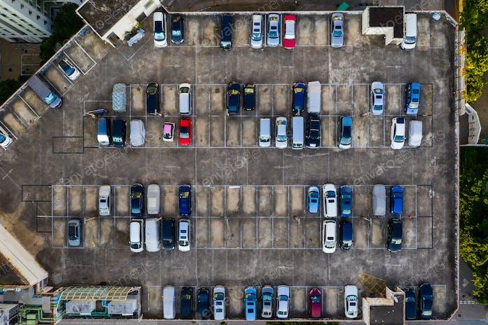 Top view of Car park