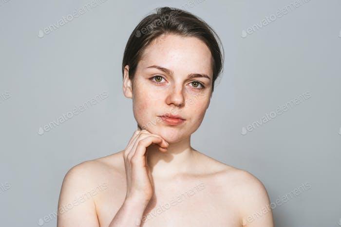 Красота женщина здоровой кожи естественная красота