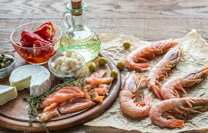 Ingredients for Mediterranean diet