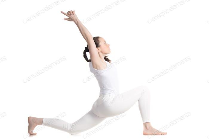 Horse rider yoga pose