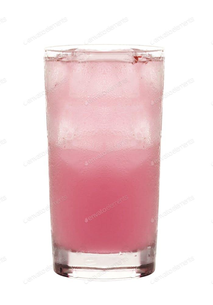 strawberry juice isolated