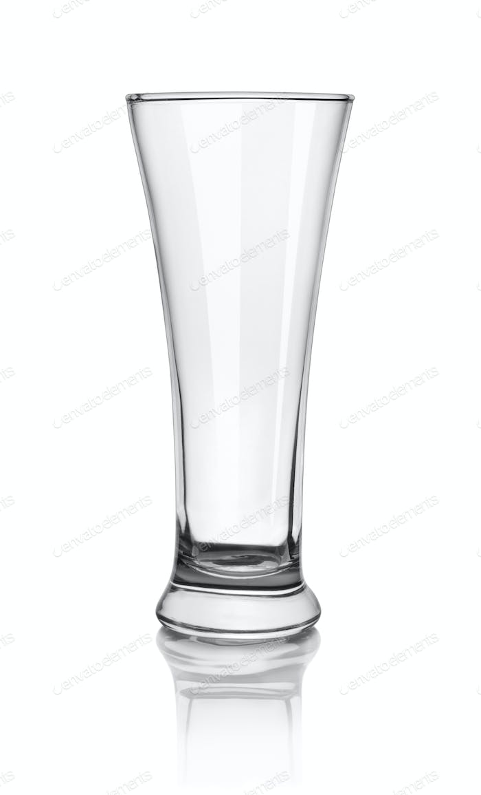 Empty beer glass. Path