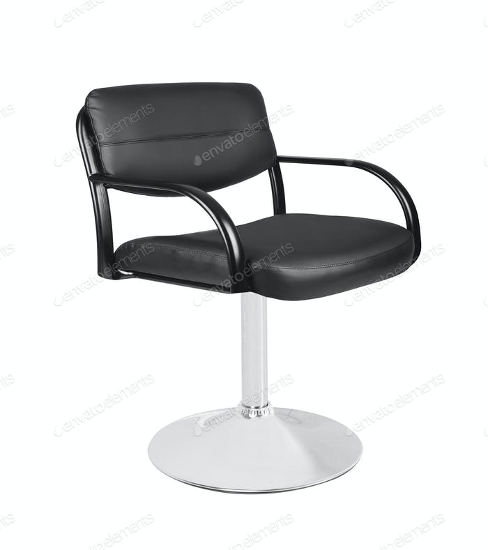 A barber chair isolated on white background