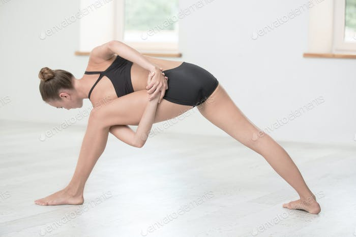 Woman doing stretching exercises