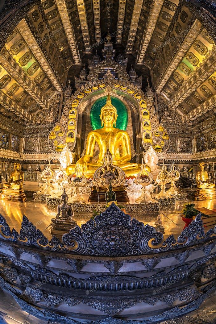 Main Buddha statue at Silver Ubosotha.