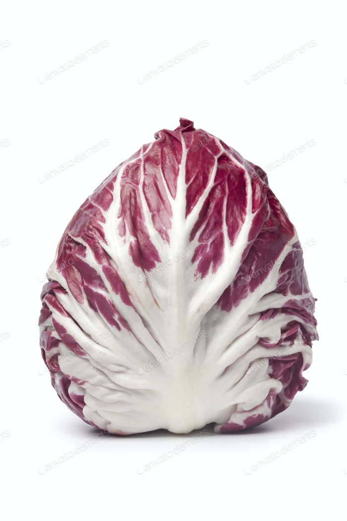 Whole single fresh  Radicchio rosso lettuce